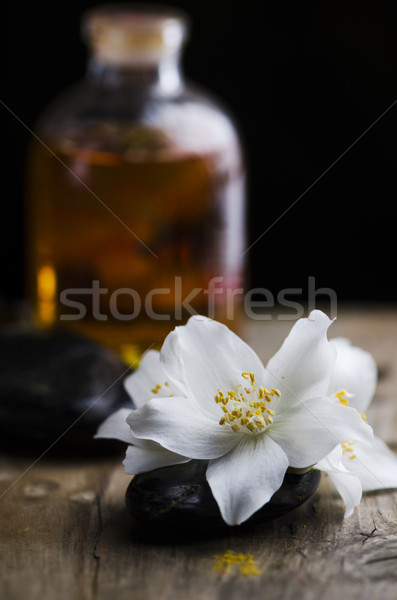 Jasmin flower and scented oil Stock photo © hitdelight