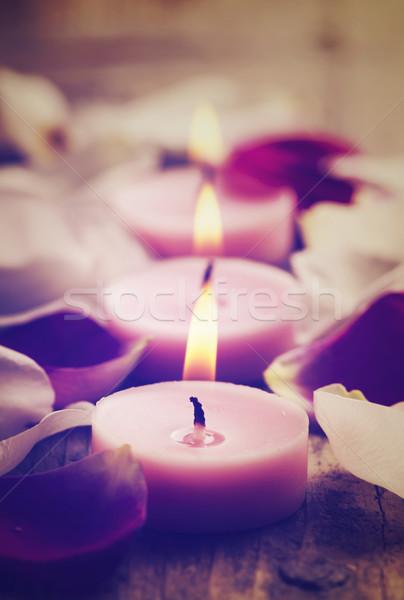 Spa Candles Stock photo © hitdelight