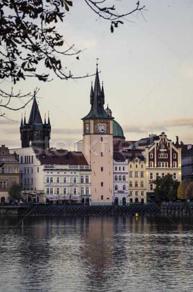 Prague from Vltava Stock photo © hitdelight