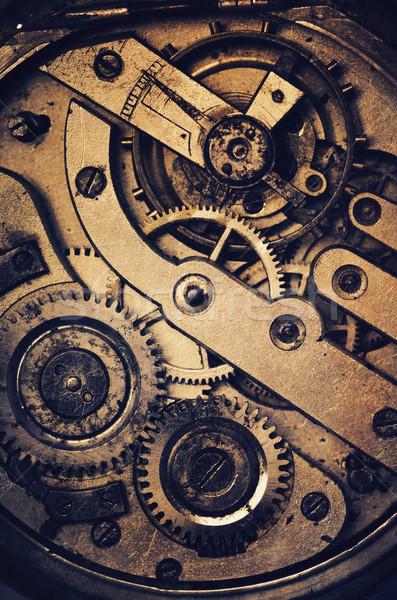 Photo stock: Horloge · mécanisme · poche · texture · grunge · texture · technologie