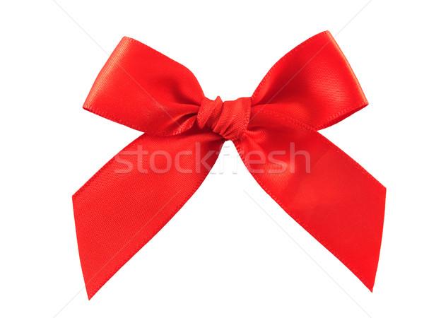 Isolated red bow Stock photo © hitdelight
