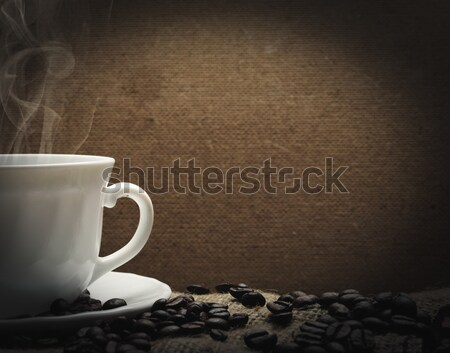 Café tasse chaud alimentaire mur Photo stock © hitdelight