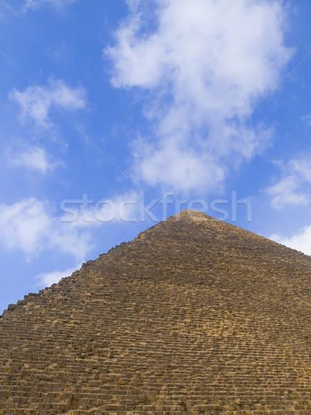 Egipcjanin piramidy niebo pustyni sztuki Zdjęcia stock © hitdelight