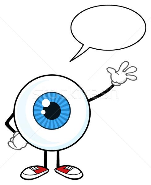 синий глазное яблоко парень мультфильм талисман характер Сток-фото © hittoon