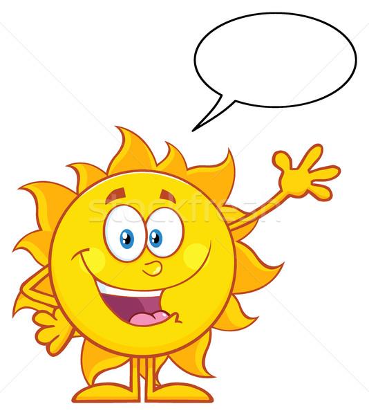 Boldog nap rajzfilm kabala karakter integet üdvözlet Stock fotó © hittoon
