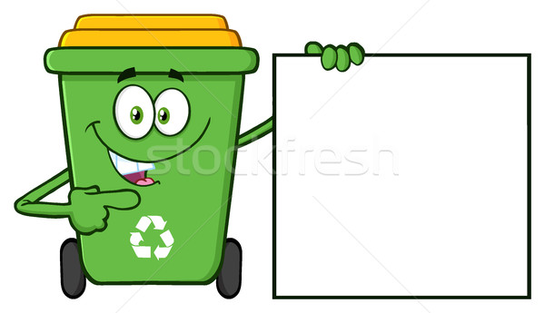 話し 緑 リサイクル 漫画のマスコット 文字 ストックフォト © hittoon