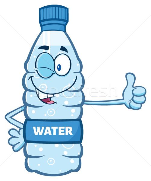 漫画 水 プラスチック ボトル マスコット 文字 ストックフォト © hittoon