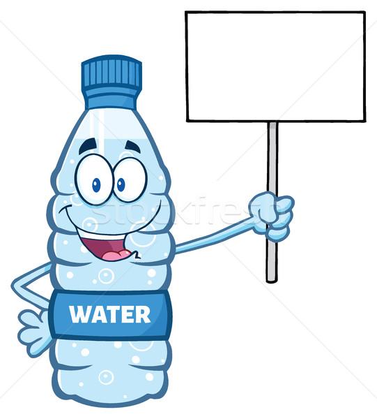 Rajz víz műanyag üveg kabala karakter Stock fotó © hittoon