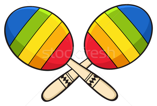 Colorful Mexican Maracas Crossed Stock photo © hittoon