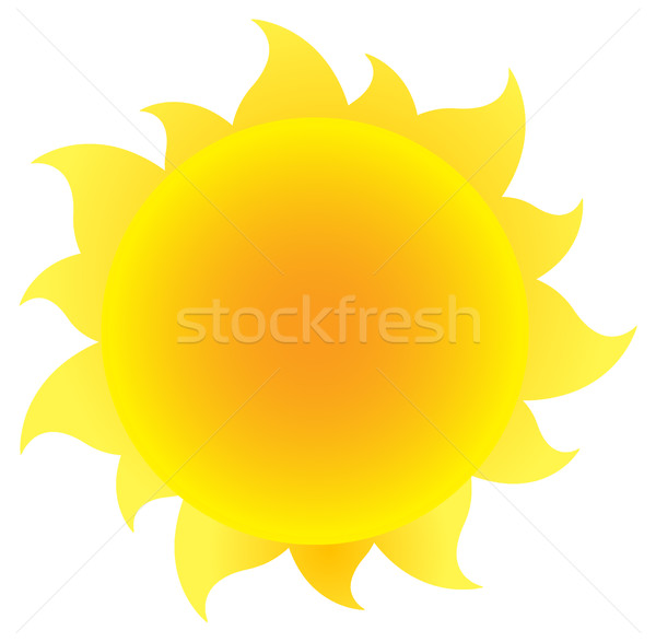 Yellow Simple Sun With Gradient Stock photo © hittoon