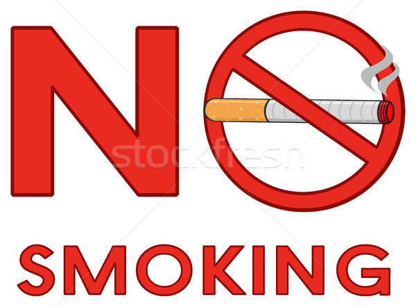 赤 にログイン たばこ 文字 実例 ストックフォト © hittoon