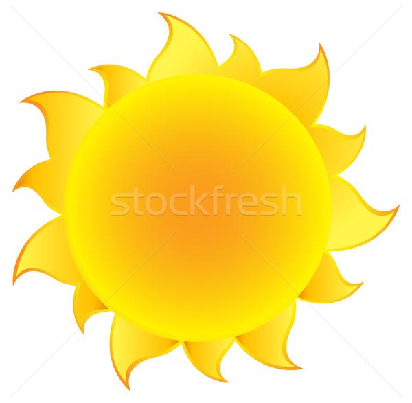 Sarı basit güneş eğim örnek yalıtılmış Stok fotoğraf © hittoon