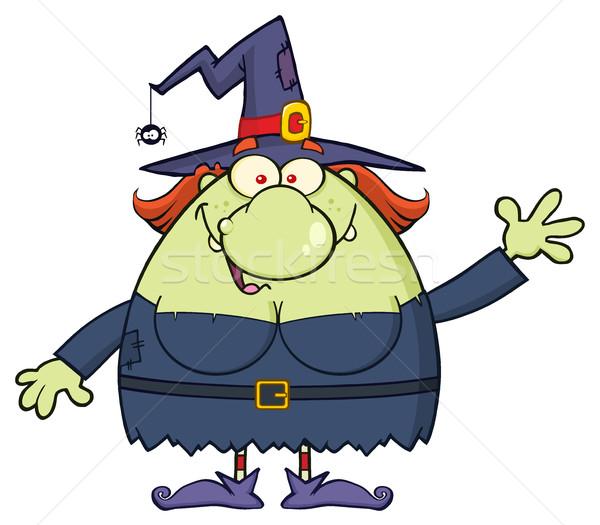 уродливые ведьмой мультфильм талисман характер приветствие Сток-фото © hittoon