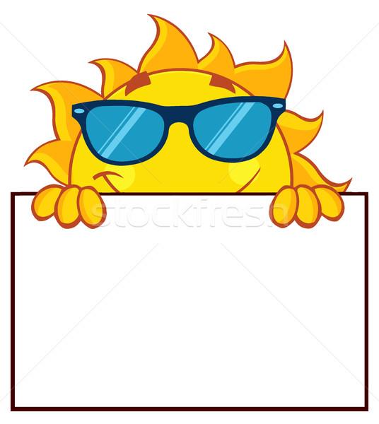 ストックフォト: 太陽 · 漫画のマスコット · 文字 · サングラス · にログイン