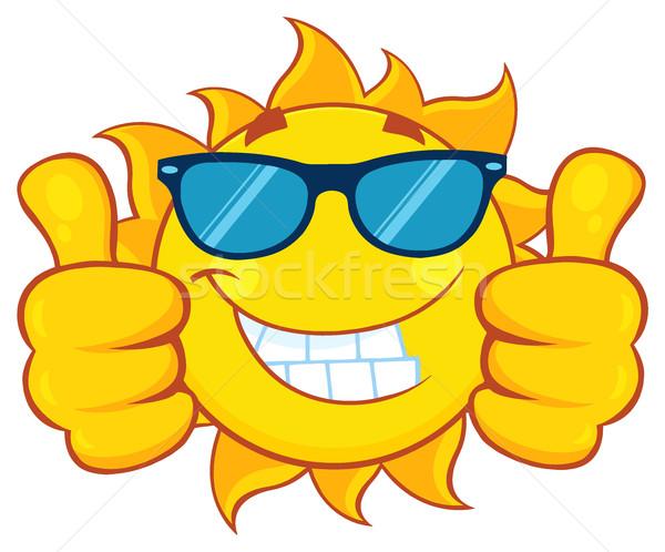 Uśmiechnięty słońce okulary podwoić Zdjęcia stock © hittoon