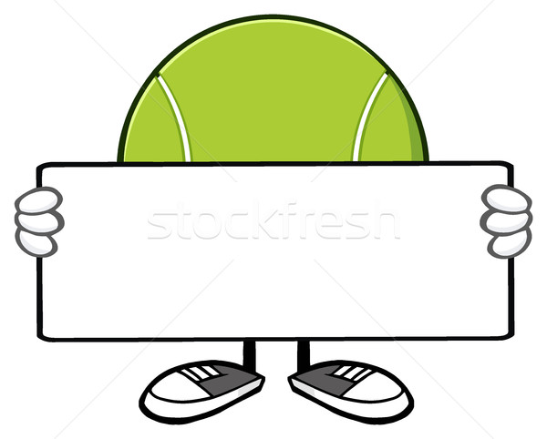 Tennisbal cartoon mascotte karakter illustratie Stockfoto © hittoon