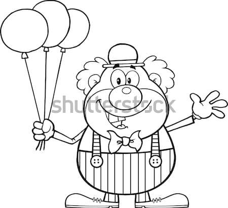Black And White Grumpy Cave Woman Cartoon Mascot Character Holding Up A Fist And A Club Stock photo © hittoon