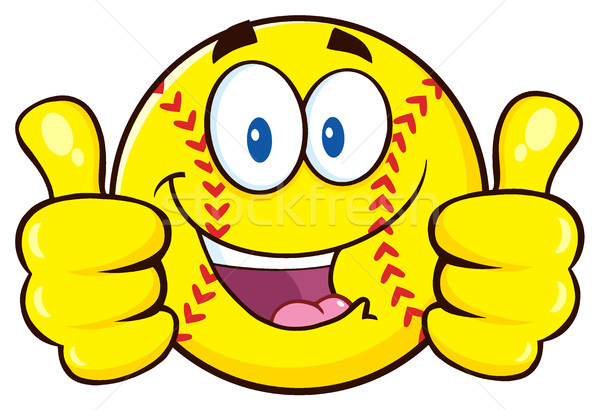 Heureux softball doubler illustration Photo stock © hittoon