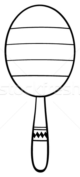 Black And White Mexican Maracas Stock photo © hittoon
