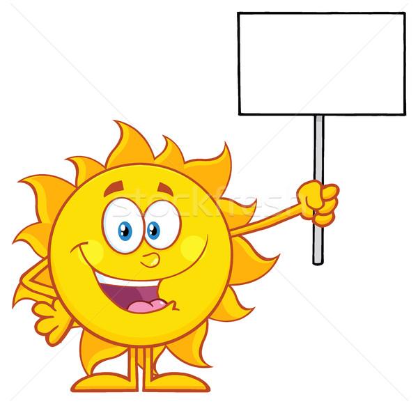 夏 太陽 漫画のマスコット 文字 ストックフォト © hittoon
