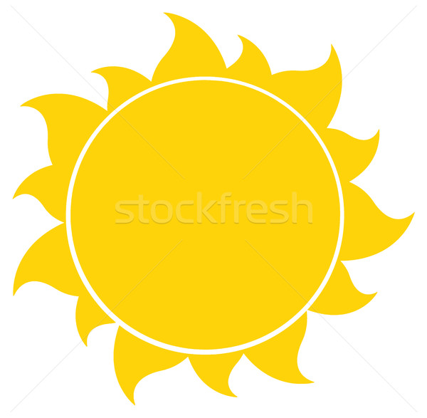 Sarı siluet güneş örnek yalıtılmış beyaz Stok fotoğraf © hittoon