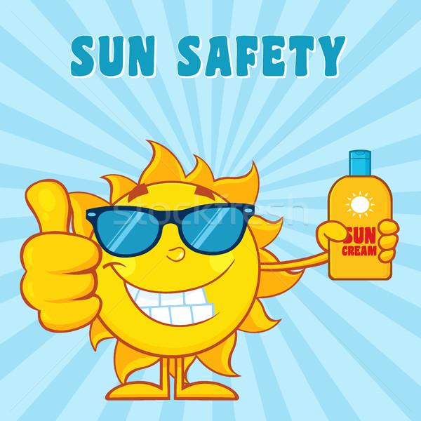Foto stock: Sorridente · verão · sol · mascote