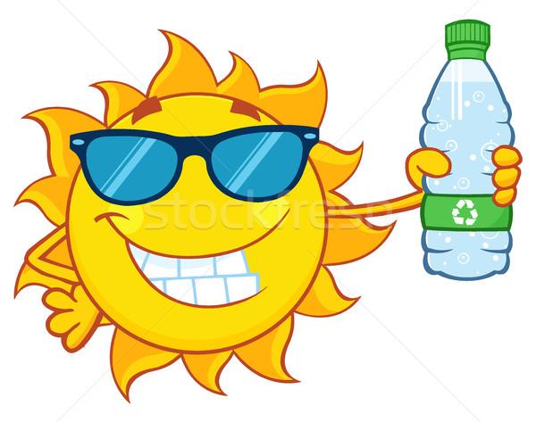 Cute солнце мультфильм талисман характер Солнцезащитные очки Сток-фото © hittoon