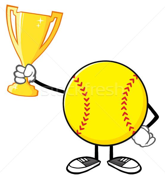 Beysbole benzer top oyunu ganimet fincan örnek Stok fotoğraf © hittoon