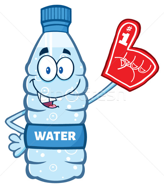 Desenho animado água plástico garrafa mascote Foto stock © hittoon