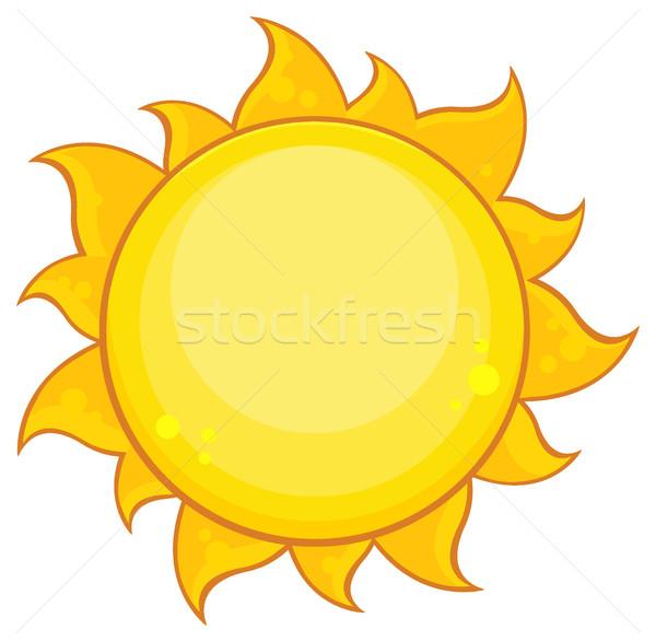 Colorido amarelo simples sol gradiente ilustração Foto stock © hittoon