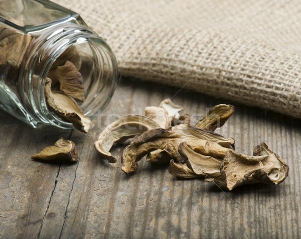 сушат грибы из хранения банку продовольствие Сток-фото © HJpix