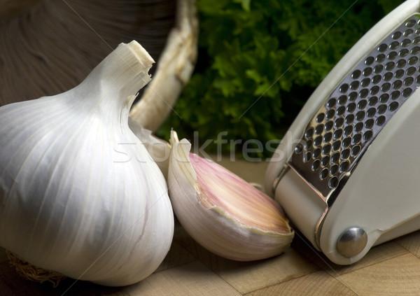 чеснока лампа гвоздика прессы кухне приготовления Сток-фото © HJpix