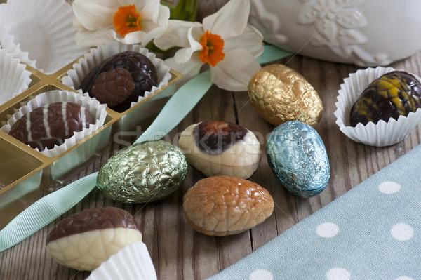шоколадом яйца мини пасхальных яиц молоко Пасху Сток-фото © HJpix