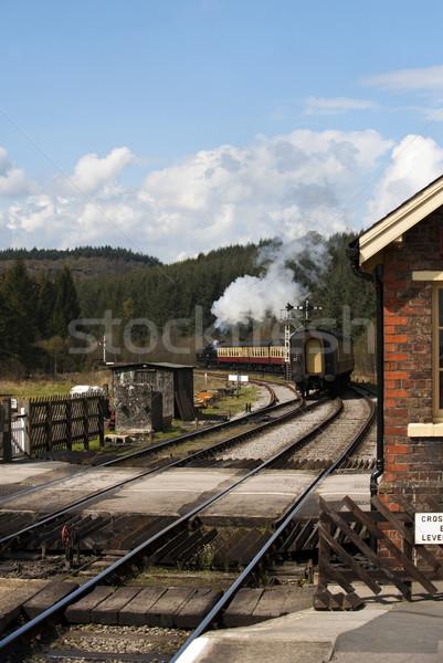 пар поезд станция север железная дорога линия Сток-фото © HJpix