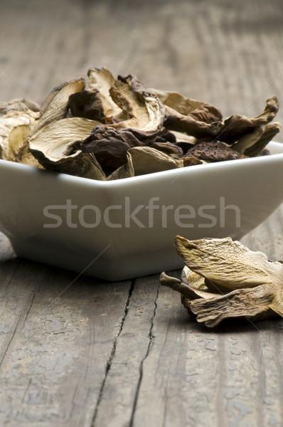грибы сушат белый блюдо деревенский Сток-фото © HJpix