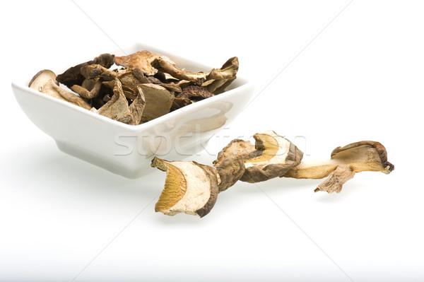грибы сушат белый блюдо Сток-фото © HJpix