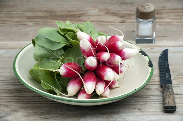 свежие редис французский завтрак эмаль Сток-фото © HJpix