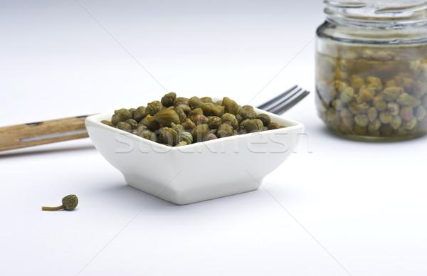 белый блюдо банку фон приготовления ингредиент Сток-фото © HJpix