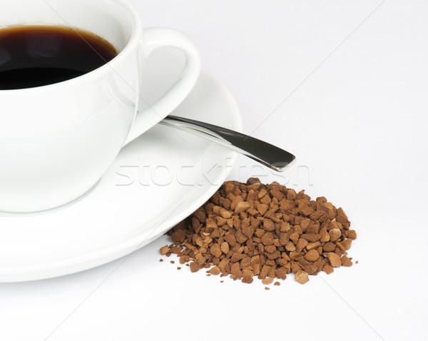 растворимый кофе Кубок черный кофе кофе Сток-фото © HJpix