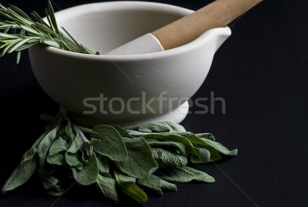 свежие травы кухне приготовления оборудование Сток-фото © HJpix