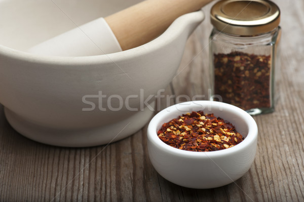 Crushed Chillies Stock photo © HJpix