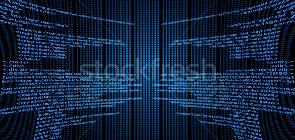 Html bleu code texte noir ordinateur Photo stock © hlehnerer