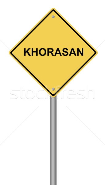 Warning Sign KHORASAN Stock photo © hlehnerer