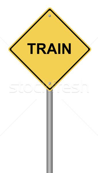 Train Warning Sign Stock photo © hlehnerer