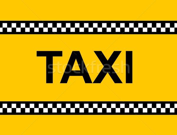 Taxi signo amarillo taxi texto negocios Foto stock © hlehnerer