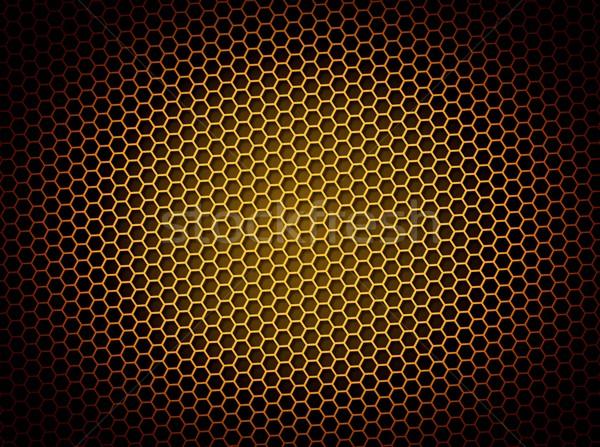 Favo de mel dourado ilustração 3d fundo luz efeito Foto stock © hlehnerer