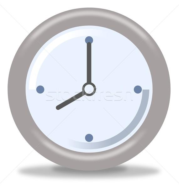 часы восемь серебро синий белый Сток-фото © hlehnerer