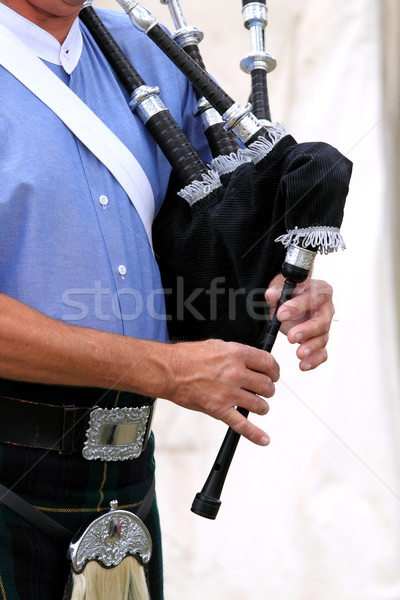 playing bagpipe Stock photo © hlehnerer