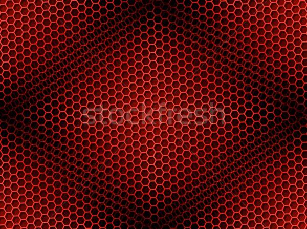 соты бесшовный красный коричневый свет эффект Сток-фото © hlehnerer