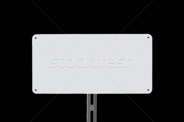 White Sign Black Stock photo © hlehnerer